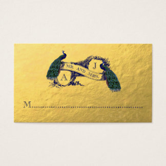 Gold Peacock Wedding Place Card