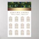 Gold Peacock Wedding Seating Chart