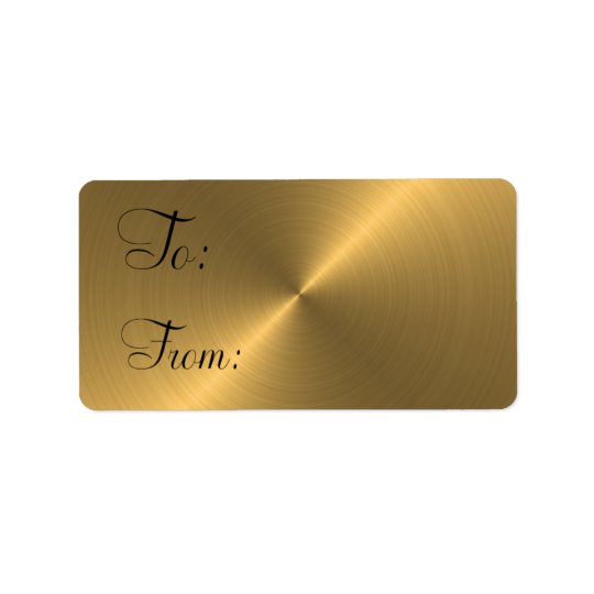 Gold Pearl Gift Tag Address Label
