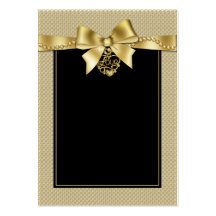 Gold Pearls Ribbon on Black Seating Cards