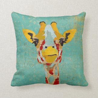 Gold Peeking Giraffes MoJo Pillows Throw Cushion