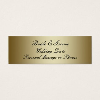 Gold Personalized Wedding Favor Tag Template