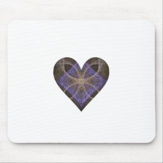Gold Petal Overlay on Purple Intricate Diamond Mouse Pads