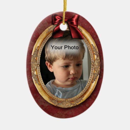 Gold Photo Frame Vintage Christmas Ornament