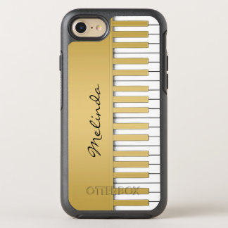 Gold Piano Keyboard Music OtterBox Symmetry iPhone 8/7 Case