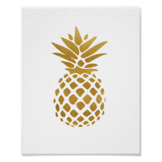 Gold Pineapple - Art Print