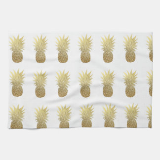 Gold Pineapple Kitchen Towel