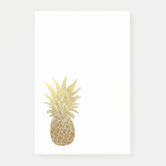 Gold Pineapple Post It Notepad