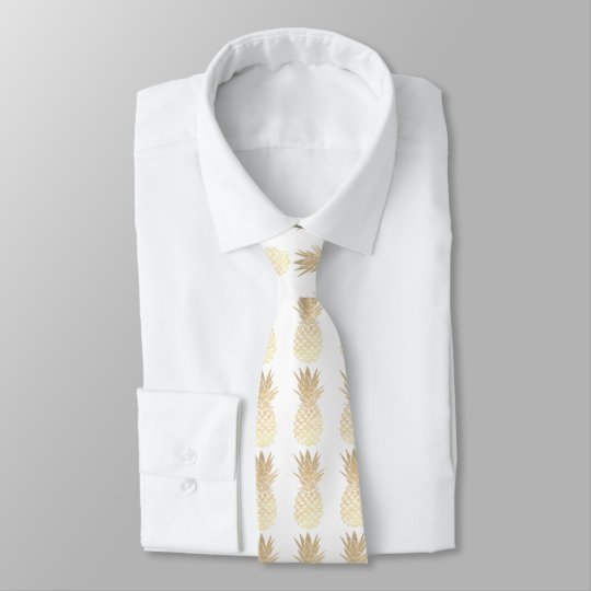 gold pineapples on any colour background tie