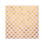 Gold Pink Butterfly Metallic Faux Foil Butterflies Gallery Wrap Canvas