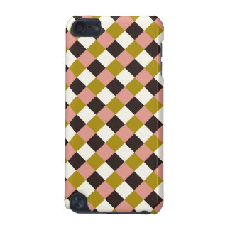 Gold Pink Chocolate Ivory Plaid iPod Touch 5G Case
