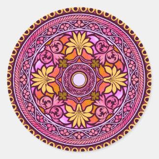 Gold & Pink Disc Indian Wedding Invitation Sticker