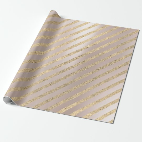 Gold Pink Foxier Glitter Stripes Lines Pearl Blush