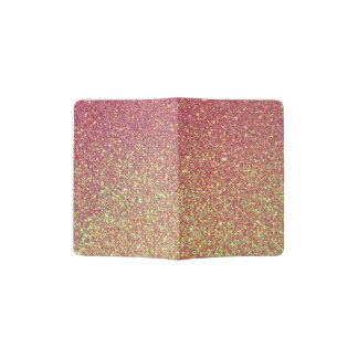 Gold Pink Glitter Texture Passport Holder