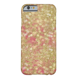 Gold Pink Sparkle Bokeh Dots Barely There iPhone 6 Case