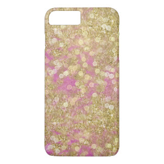 Gold Pink Sparkly Bokeh iPhone 7 Plus Case