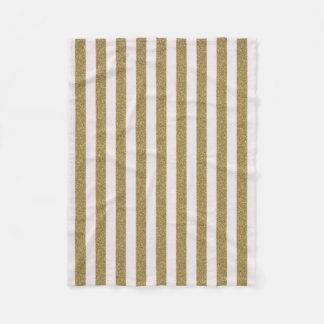 Gold pinstripe stripe Fleece Blanket