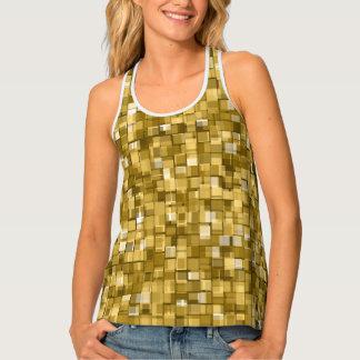 gold pixels tank top