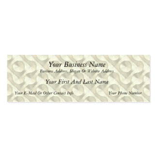 Gold Plaster and Cardboard Labyrinth Pack Of Skinny Business Cards