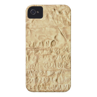 Gold plate with 'brief' Etruscan inscription, from iPhone 4 Cases