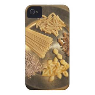 Gold Plate with pasta and grains of wheat iPhone 4 Cases