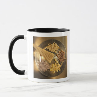 Gold Plate with pasta and grains of wheat Mug