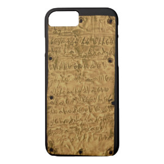 Gold plate with Phoenician inscription, from Santa iPhone 8/7 Case