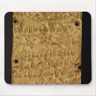 Gold plate with Phoenician inscription, from Santa Mouse Pad
