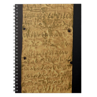 Gold plate with Phoenician inscription, from Santa Notebook
