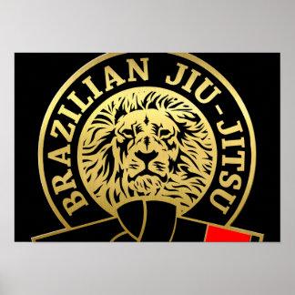 Gold Plated Brazilian Jiu-Jitsu Black Belt Poster
