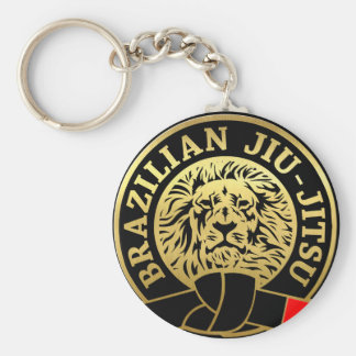 Gold Plated Brazilian Jiu Jitsu Lion Key Ring