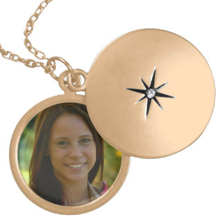 Gold Plated Customizable Medium Locket