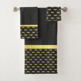 Gold Plated Love Bath Towel Set