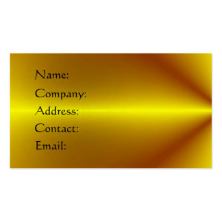 Gold Plated Pack Of Standard Business Cards