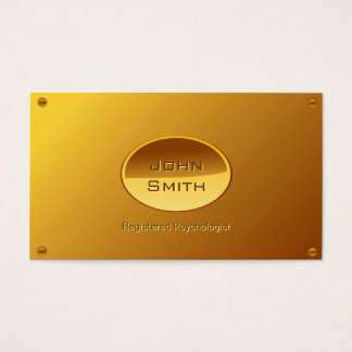 Gold Plated Psychologist business card