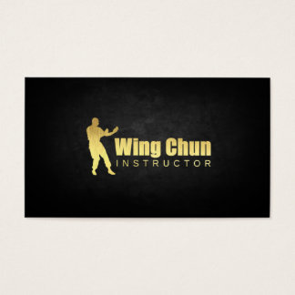 Gold Plated Wing Chun Instructor Business Card