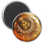 Gold Pocket Watch Magnet