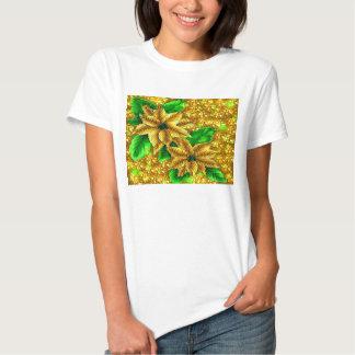 Gold Poinsettia Shirt