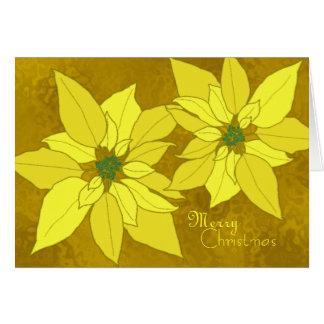 Gold Poinsettias Template Christmas Cards
