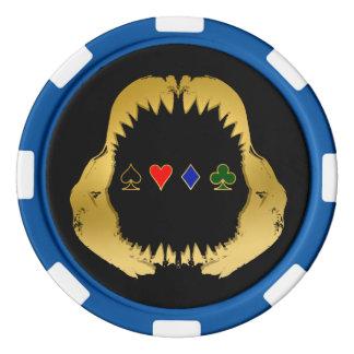 Gold Poker Shark Chips