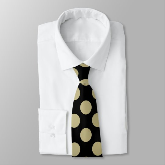 Gold Polka Dot Double Sided Tie