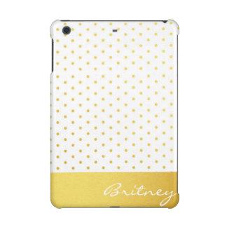 Gold polka dots and monogram - custom