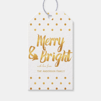 Gold polka dots gift tags