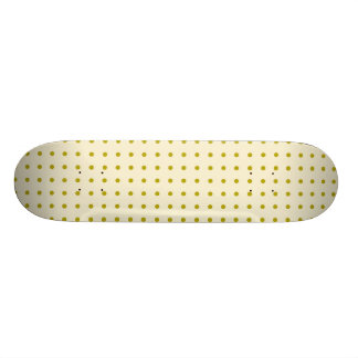 Gold polka dots on cream 21.3 cm mini skateboard deck