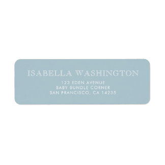 Gold Polka Dots on Pastel Blue | Baby Shower Return Address Label
