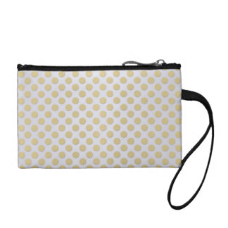 Gold Polka Dots on Silver Coin Wallets