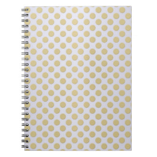 Gold Polka Dots on Silver Notebook