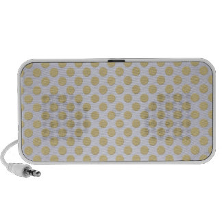 Gold Polka Dots on Silver PC Speakers