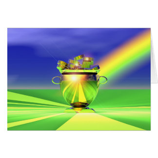 Gold Pot Of Gold Greeting Card