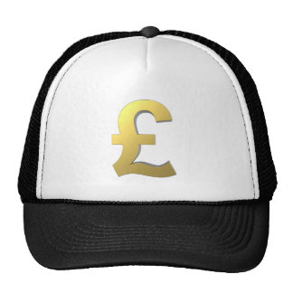 Gold Pound Sign Graphic Cap